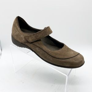 MUNRO COMFORT MARY JANE BROWN SUEDE SIZE 9M